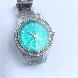 Fossil Turquoise Glitz Watch